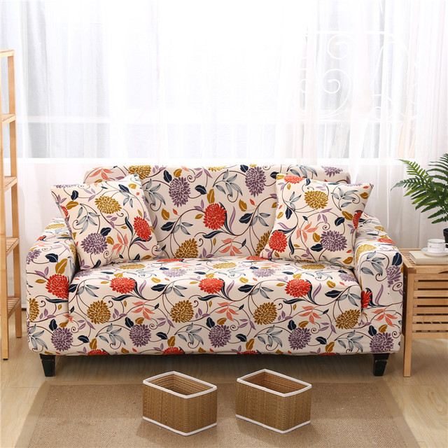Etonnant Anti Static Universal Sofa Cover Floral Designer Sofa Slipcovers For Single  Double Three Four Seater
