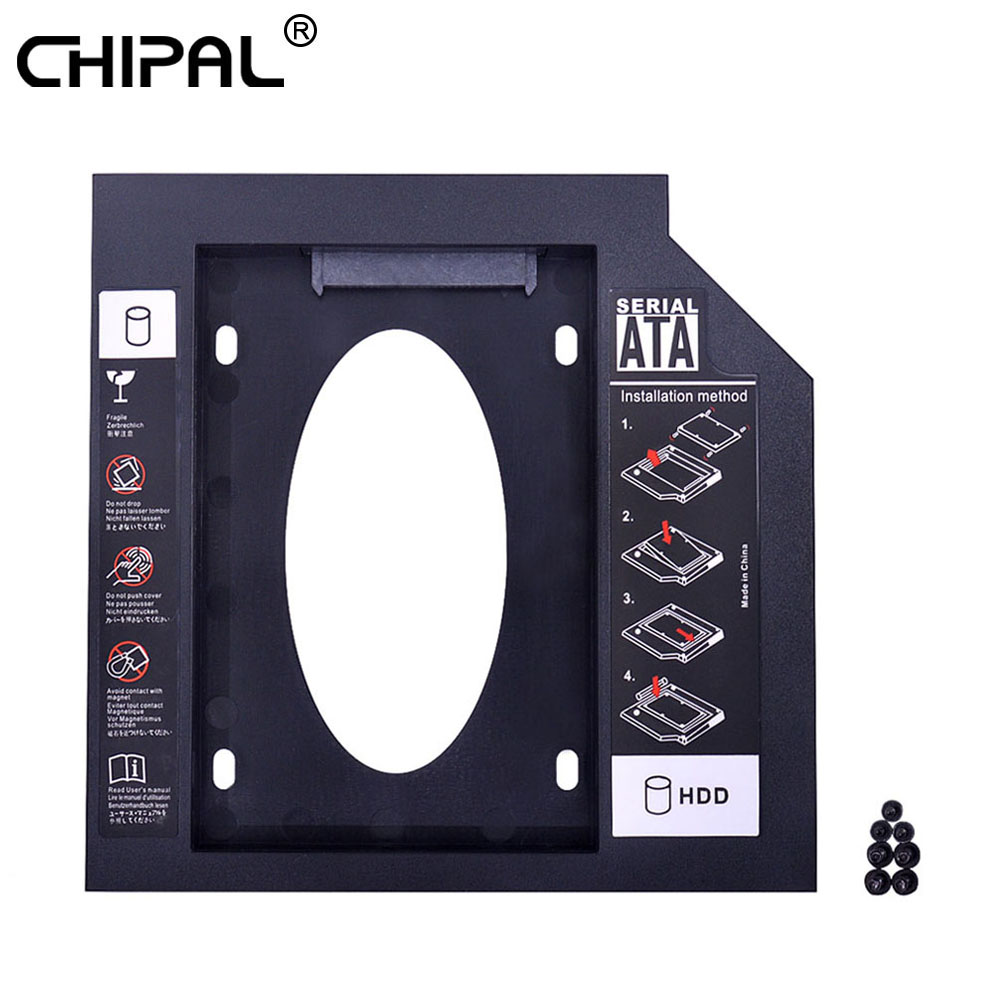 CHIPAL Universal 2nd HDD Caddy 12.7mm SATA 3.0 for 2.5 Inch SSD Case Hard Disk Drive Adapter for Laptop ODD CD DVD ROM Optibay(China)