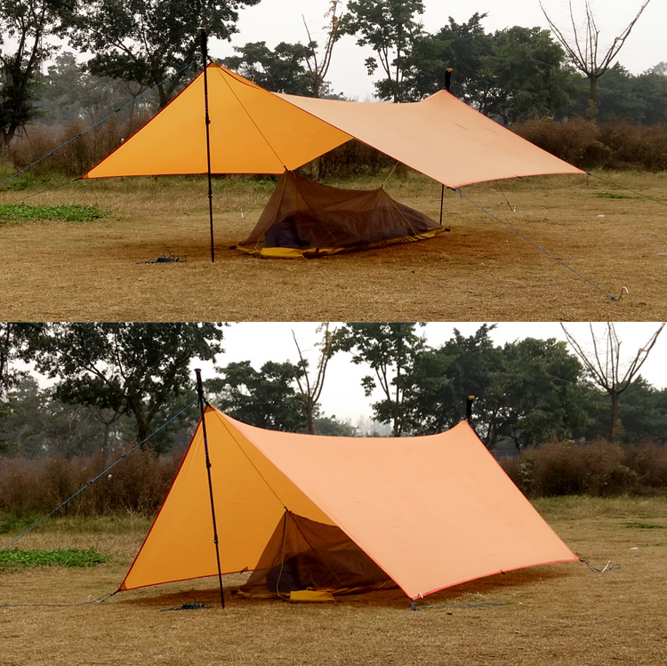 ultralight Sun Shelter Tent Waterproof Awning Hiking Portable Canopy Outdoor Gazebo Camping Tent 20D silicone nylon Tarp Tent large outdoor camping pergola beach party sun awning tent folding waterproof 8 person gazebo canopy camping equipment