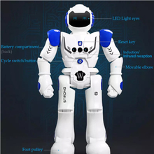 Remote Control Smart Program Intelligent Robot Walk Slide Dance Music Talk Demostration Interactiv Gesture Inductive Warrior Toy