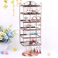 Rotating earring rack earrings display shelf cage hanger jewelry findings holder ear stud stand multifunction accessory rack