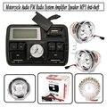 Nova Motocicleta Sistema de Áudio Alto-falantes Guiador FM Sistema de Áudio Motocicleta Rádio FM Áudio MP3 Orador Sistema De Áudio Acessórios
