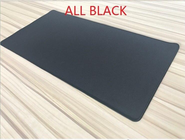 WESAPPA Large 60x30/70x30/90x40cm All Black Mouse Pads Whole Black Desk Table Mousepad Office Cushion Super Big 60cm 7120CM XXL