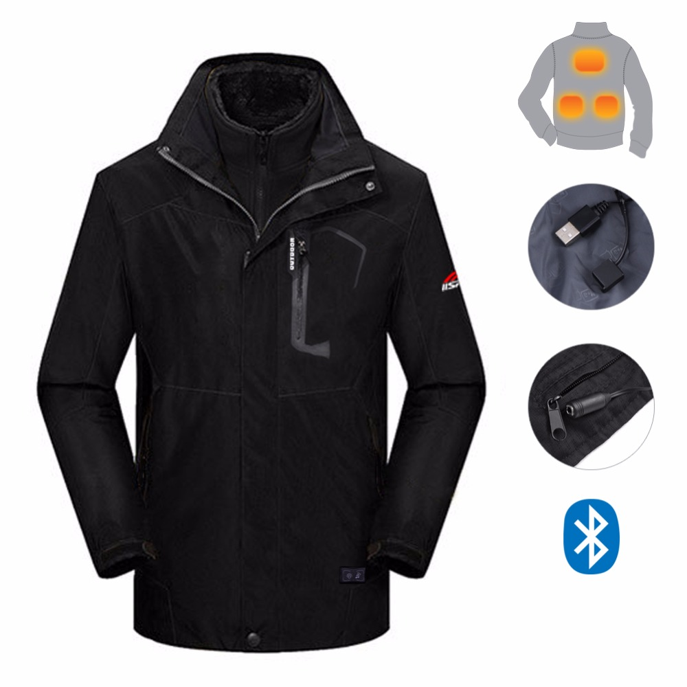 High quality men's hiking jacket with heating pad for climbing camping trekking fishing outdoor activity fishing hunting cycling цена