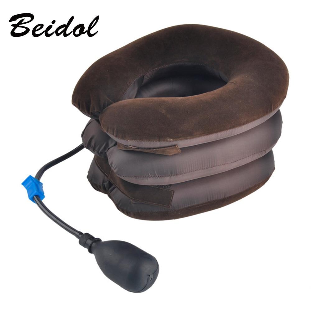 Hot 1pc High Quality Air Cervical Neck Traction Soft Brace Device Unit for Headache Head Back Shoulder Neck Pain Health Care