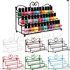 Makeup Organizer Rack Lipstick Nail Polish Clear Iron Cosmetic Storage Box Three Layer Perfume Display Case