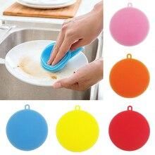1 шт. новая силиконовая щетка для мытья посуды силиконовая губка для мытья посуды кухонный горшок инструмент для мытья посуды