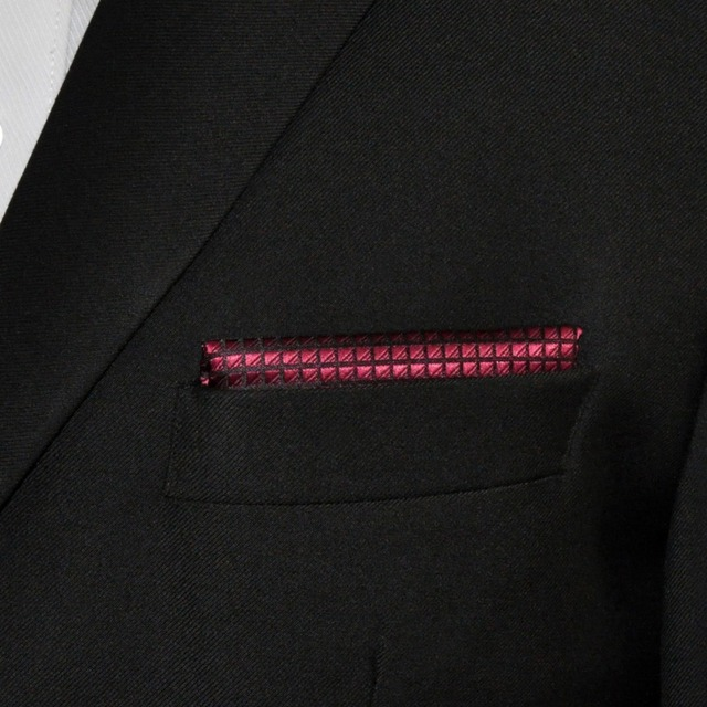 Burgundy Casual Style Handkerchief