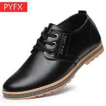 Fall 2019 New Mens  Fashion Leisure Comfort Classic Business Black lace-up Office Leather Shoes Ultra-low prices Dress shoes