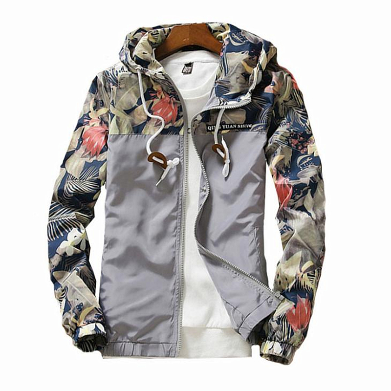 2019 Spring Women   Jackets   Causal Windbreaker Women   Basic     Jacket   Coats Female Zipper Flowers Lightweight   Jackets   Plus Size 5XL