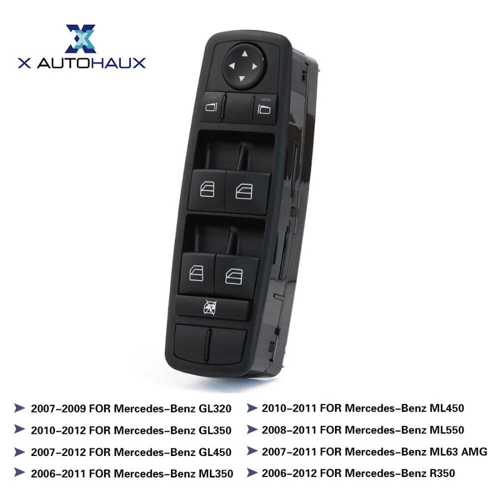 X AUTOHAUX Avant Gauche de Puissance de Voiture Porte Fenêtre Miroir Interrupteur Principal pour Mercedes-Benz ML GL R Classe GL320 GL350 GL450 ML350 ML450