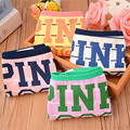 Spring new women's briefs Cotton character cute girls underwear woman mid-rise comfortable letter print sports woman panties