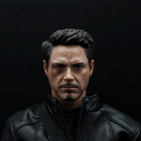 hot 1/6 Scale Civil War Tony Stark Head Sculpt Injury For Hot Toys Figure Body