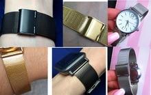 Milan mesh stainless steel bracelet ultrathin watchband strap for General Thin watch ticwatch womens  mens brand 10 12 14 16mm