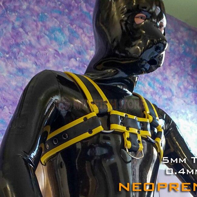 (FMJ011) неопреновый жгут из искусственной кожи, натуральный латексный нагрудный ремень, поводок для собак, рабство, бандаж, аксессуары