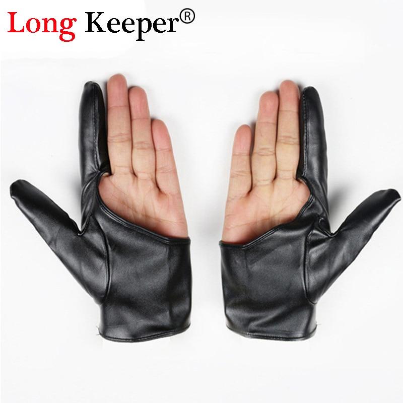 1 Fitness Gloves For Women Men Dance Leather Gloves Semi Fingerless Luvas Half-finger Party Fitness Gloves For Women G-79