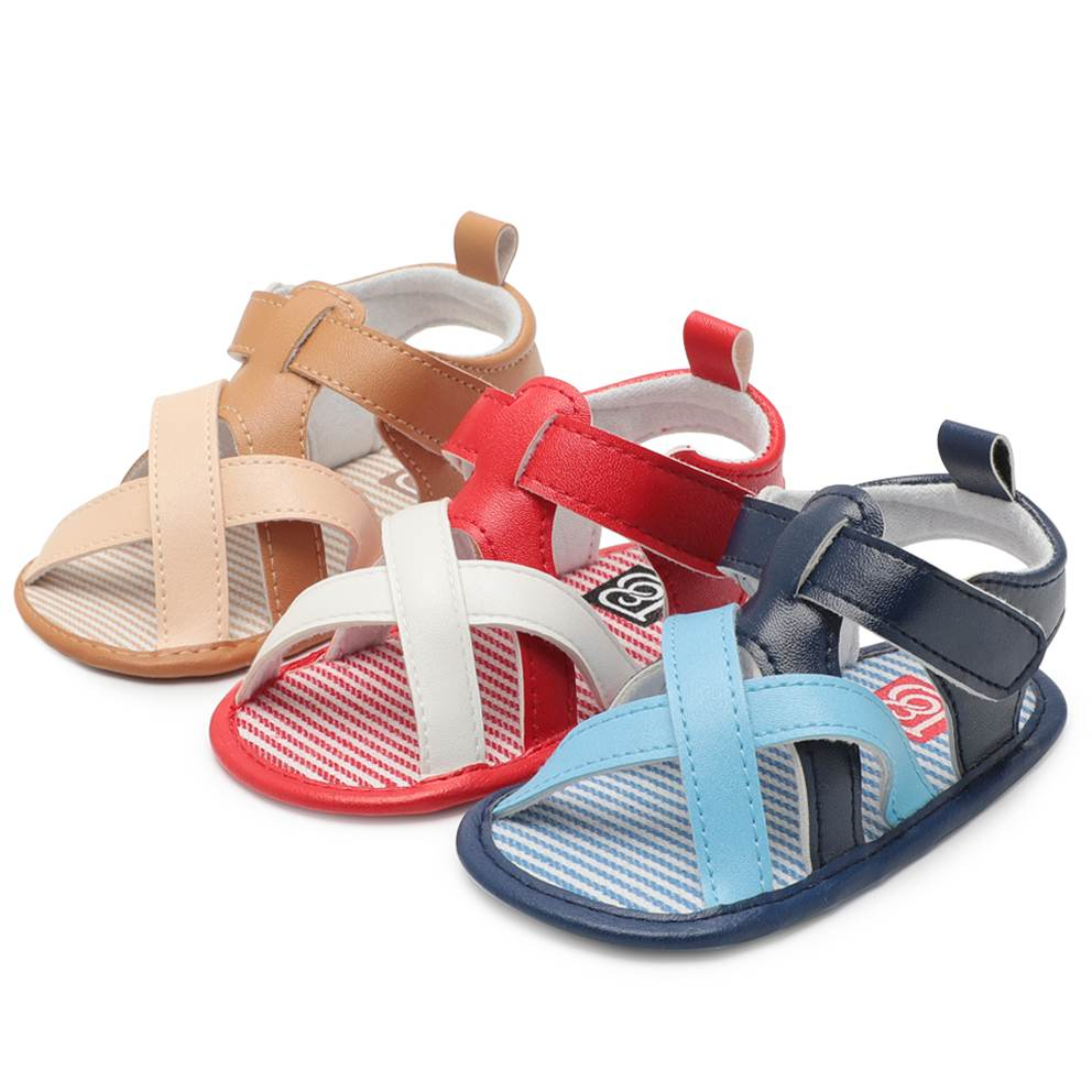 Shoes Newborn Baby Boy Girl Shoes PU Leather Solid Handmade Summer Moccasins Baby Soft Bottom 3 Color Available First Walkers