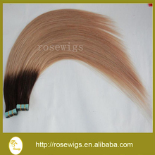 Free Shipping 16″18″20″22″24″ Tape skin weft Hair Extension Hight Quality Straight weaves Hair ombre color