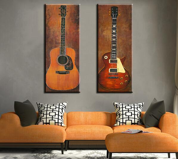 2p Music Studio Room Guitar Top Decorative Wall Paintings For Home