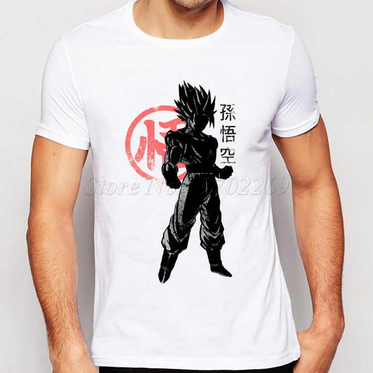 Сон Гоку печать тройник 2018 Мужская мода Японии аниме Dragon Ball Z майка Супер Saiyan рубашка Hipster Горячие Топы корректирующие Для мужчин костюмы