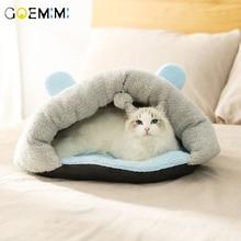 Soft Warm Winter Dog Cat Nest House Lovely Cotton Pets Cats Flip Flop Cave Pet Cute Kennel Fleece Bed