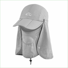 FSC01 Outdoor  Fishing Hiking Bucket Hat Removable Foldable Portable Waterproof Fisherman Hat Mask Face Protect Cap