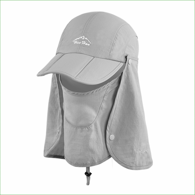 8b91ac218fe59 FSC01 Outdoor Fishing Hiking Bucket Hat Face Protect Cap Removable Foldable  Portable