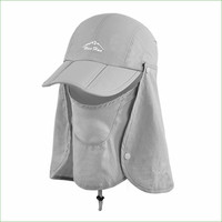 Fsc01 pesca ao ar livre caminhadas balde chapéu removível dobrável portátil à prova dwaterproof água pescador chapéu máscara rosto proteger boné