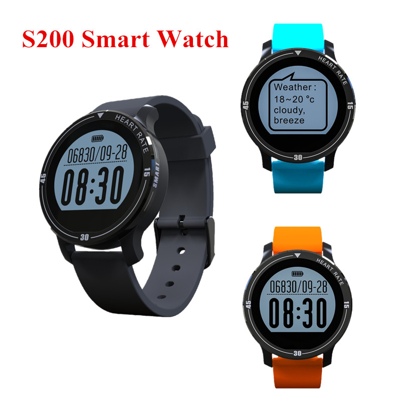 imágenes para 2017 nuevo smart watch s200 bluetooth 4.0 monitor del ritmo cardíaco deporte podómetro recordatorio de llamada sms inteligente reloj para ios android