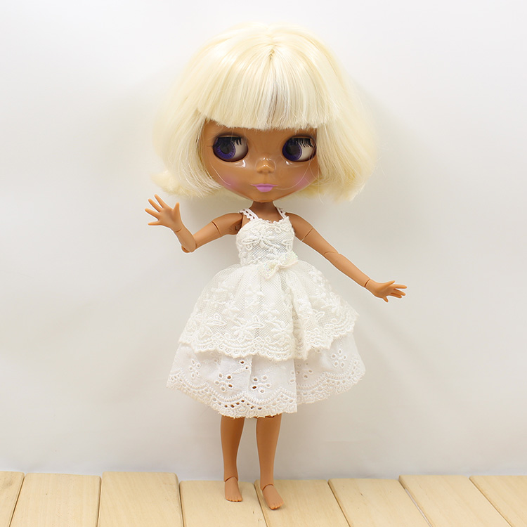 Blyth Nude doll diy joint body short beige hair 19 joint body bjd blyth dolls for girls bjd doll 1 6 boneca negra blyth doll with joint body bonecos colecionaveis blyth nude doll baby dolls for girls