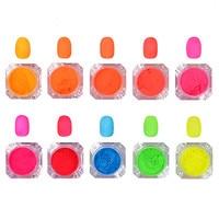 2g Box Neon Phosphor Powder Nail Gradient Pigment Powder Manicure Nail Art Decoration 36691