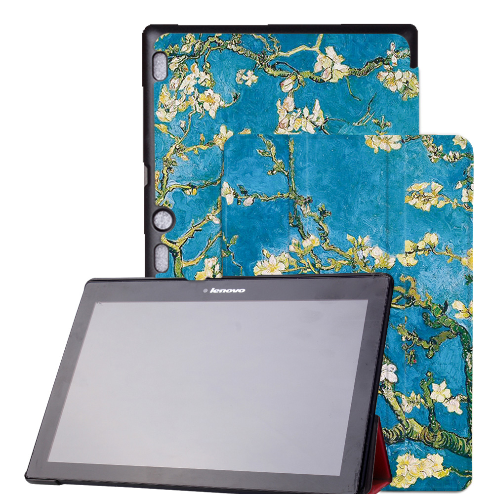 Original Design Leather Cover Stand Case for Lenovo TAB 2 A10 10.1 Tablet for Lenovo Tab 2 A10-70 + film+ Stylus Pen