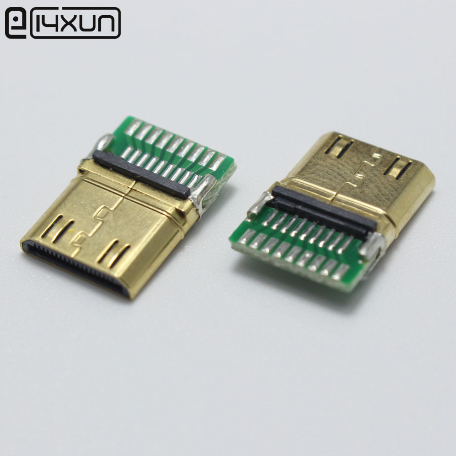 Useful Claite 19 Pin Hdmi Female Connector Type A Hdmi Socket Gold-plated Plug Smt Smd Diy Video Connector 4 Legs Plug & Connectors