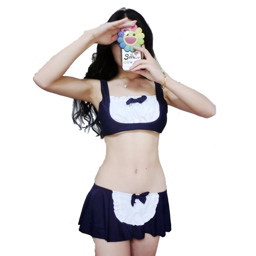 Sexy bikini Campus Cosplay Maid Roztomilý japonský Sukumizu - Sportovní oblečení a doplňky