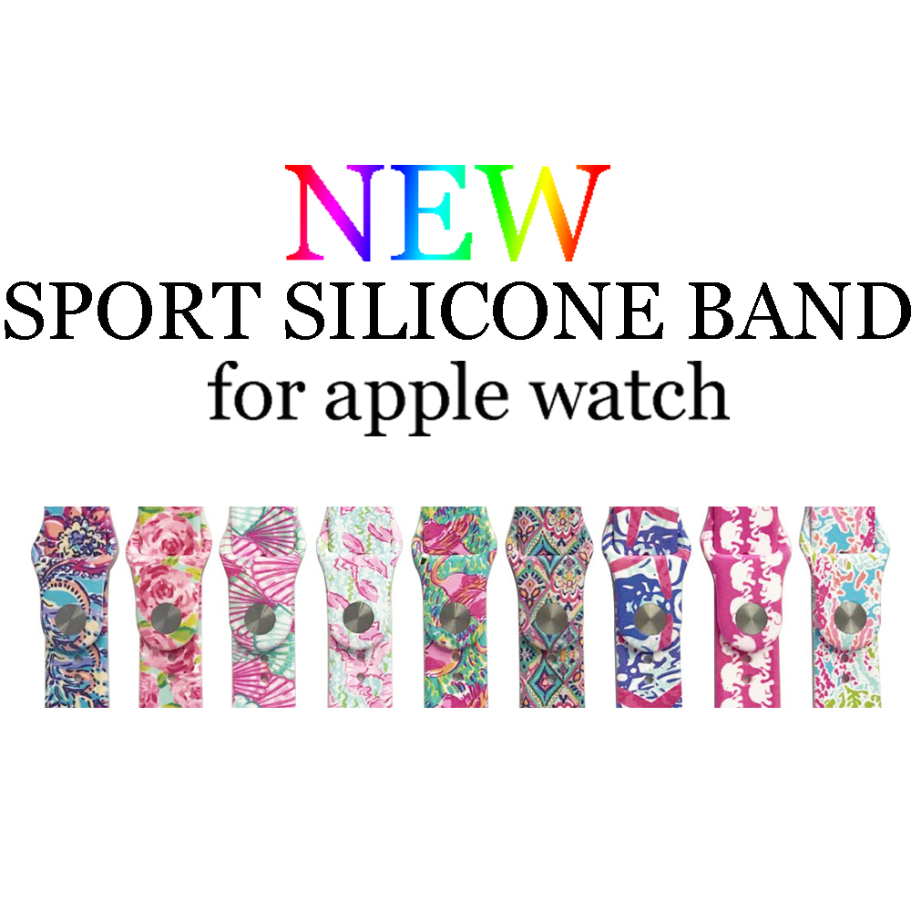 Sport Silicone strap band For Apple watch iwatch series 3/2/1 bracelet wristbands Watch accessories Rubber watchbandSport Silicone strap band For Apple watch iwatch series 3/2/1 bracelet wristbands Watch accessories Rubber watchband