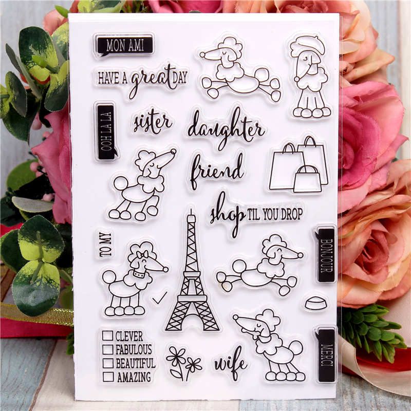 Rubber Silicone Clear Stamps for Scrapbooking Tampons Transparents Seal Background Stamp Card Making Diy Beautiful gifts Stempel