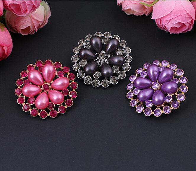 brooch fancy shawl round fix safety brooch scarf pin jewelry high 4 colors 12pc/lot