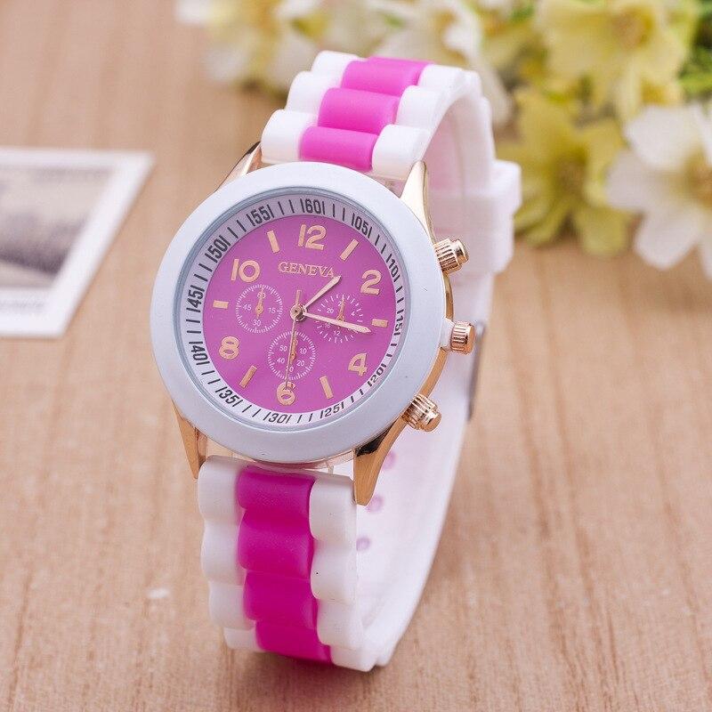 Hot Fashion Quartz Wristwatches Men Women Watch Two-Tone Silicone Band Watch Relojes Mujer Ladies Casual Sport Children Watch