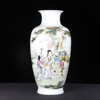 New Chinese Style Classical Porcelain Flower Vase Home Decoration Jingdezhen Good Quality Handmade High White Clay Ceramic Vases