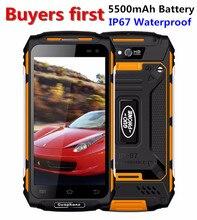 GUOPHONE X2 IP67 Waterproof Smartphone 5.0″ 1280*720 android 6.0 MTK6737 Quad Core RAM 2GB ROM 16GB 5500mAh 4G 8MP Mobile Phone