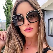 MIZHO Real Visual Celebrity Polarized Women Sunglasses Cat eye Mirrored UV Protection womens sunglasses brand designer 2019