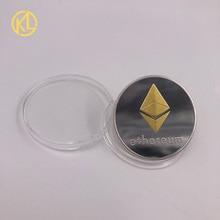 CO011 смешанный цвет покрытием Eth Программирование эфириума сувенир Биткоин великолепный памятные коллекционные физические монеты