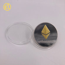 CO011 Mixed Color plated Eth Programming Ethereum Souvenir Bitcoin Splendid Commemorative Collectible Physical Coins(China)
