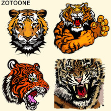 ZOTOONE Tiger Patch T-shirt Dresses Iron on Patches for Clothing A-level Washable Heat Transfer DIY Accessory Decoration C
