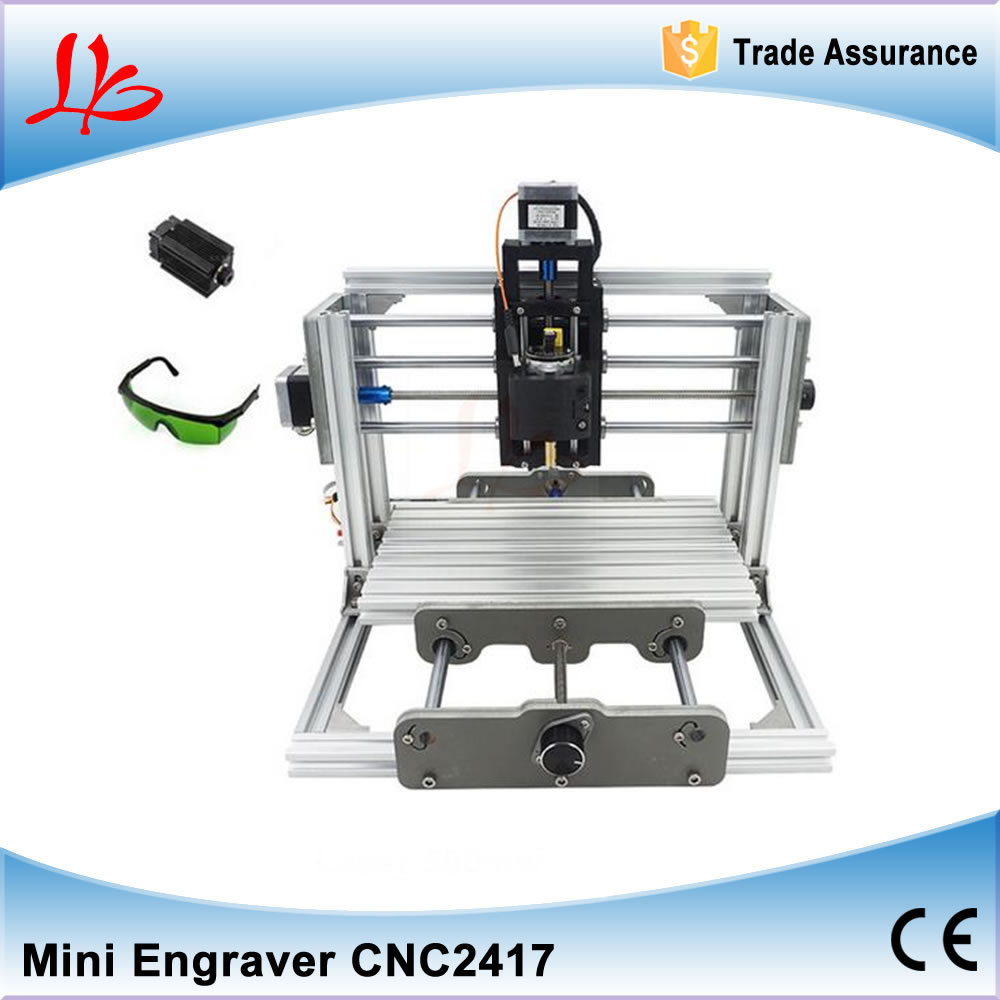 GRBL Control CNC2417 500mw/2500mw Laser and CNC 2417 2 in 1 Wood Engraving Machine PCB Milling Machine for DIY cnc 2417 500mw laser grbl control diy cnc engraving machine mini pcb pvc milling machine metal wood carving machine cnc2417