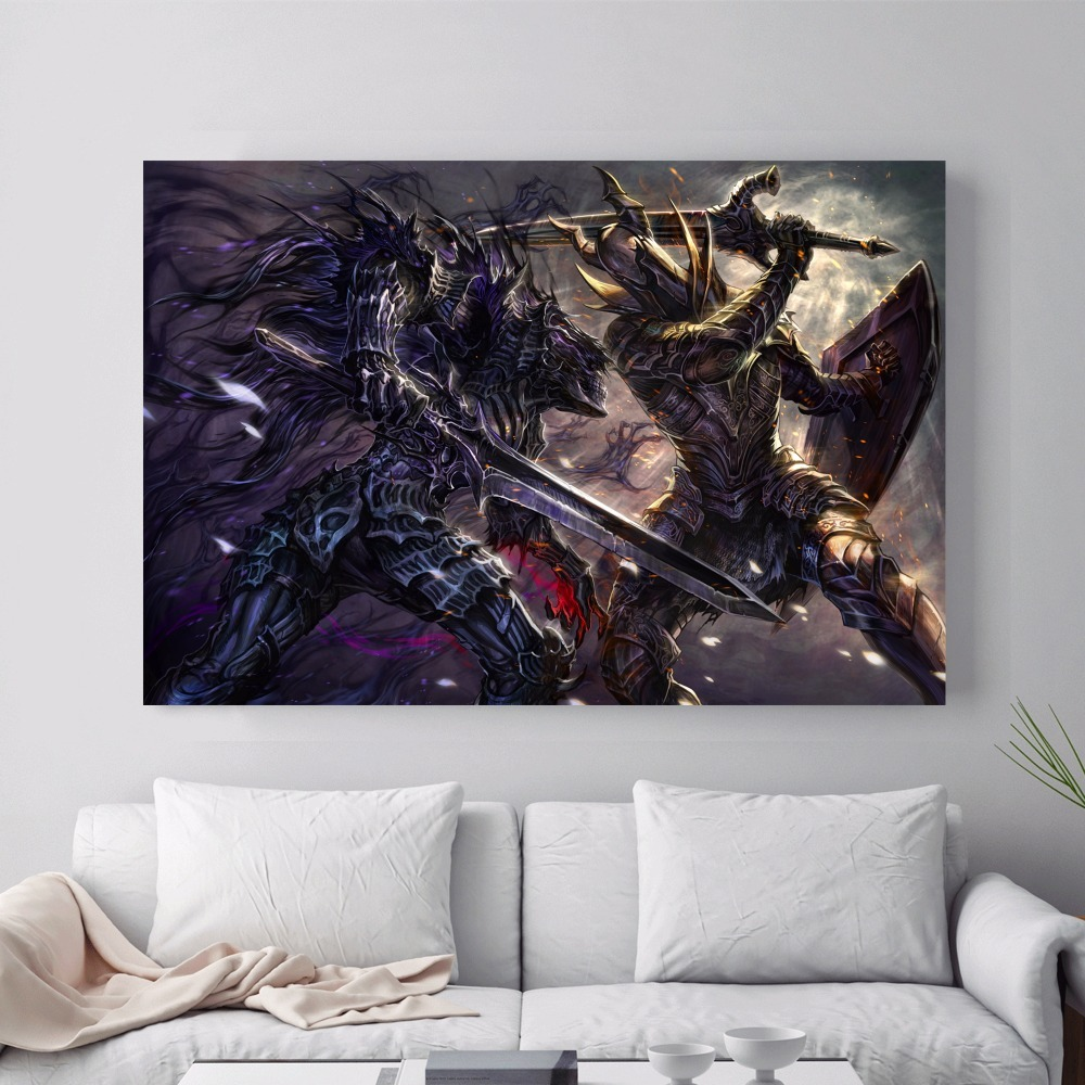 Dark Souls Game Artwork Canvas Art Print Painting Poster Wall Pictures For  Home Decoration Bedroom Decor No Frame Silk Fabric