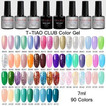 T-TIAO CLUB Gel Nail Polish Nails Set Soak Off Manicure UV Varnish Semi Permanent Art Top Base Coat Lacquer
