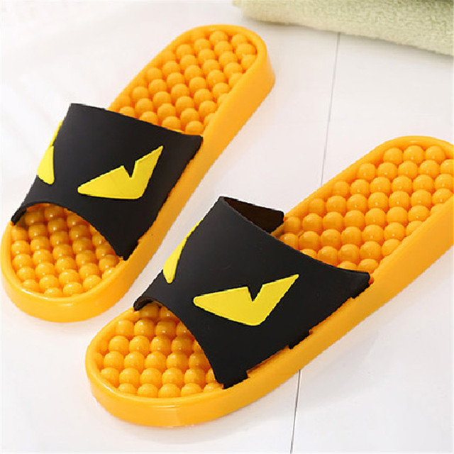 Korean new summer cool sweethearts slippers little monster anti-skid plastic couple slippers women shoes cartoon