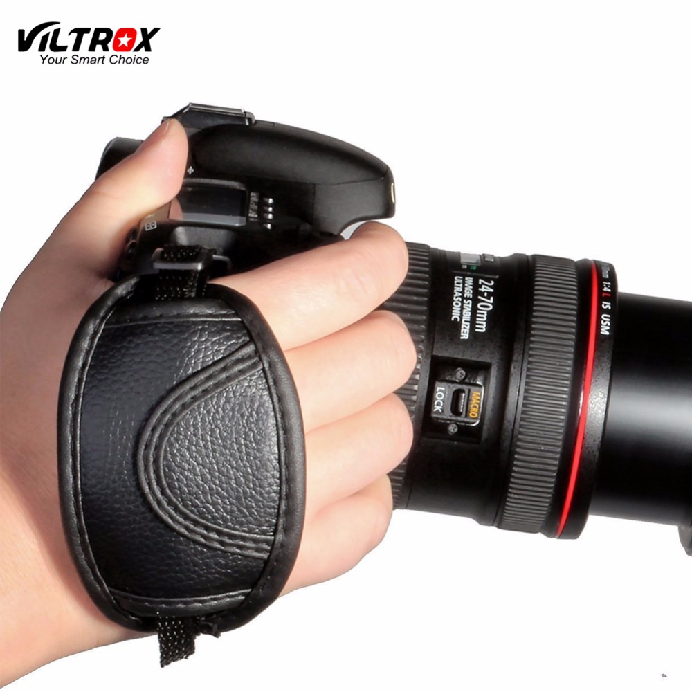 Viltrox Leather Hand Grip Wrist Strap With Mount Quick Release Base For Canon EOS T5i T4i T3i 60D Nikon D7200 D7000 Sony Camera
