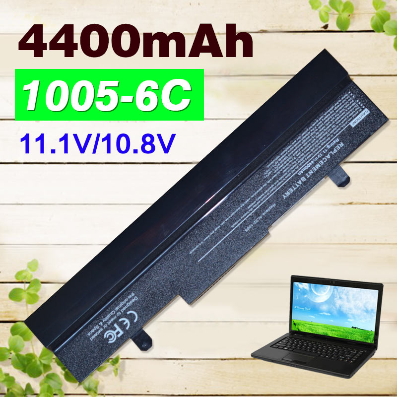 BLack 4400mAh battery for Asus Eee PC 1001px 1001p 1001 1005 1005PEG 1005PR 1005PX AL31-1005 AL32-1005 ML32-1005 PL32-1005
